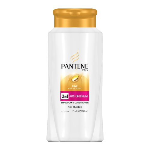 Pantene Pro-V Fine Hair Solutions Anti-Breakage 2in1 Shampoo and Conditioner, 25.4-Fluid Ounce