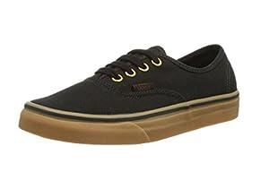 Vans Authentic Black Rubber Shoes Men's Sneakers 0TSVBXH (16)