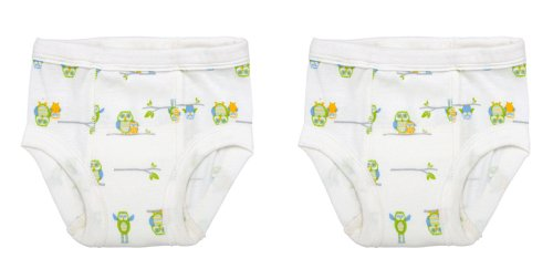 2 Pack Under The Nile Organic Training Pants (Owl, 12-24 Mo) front-897590
