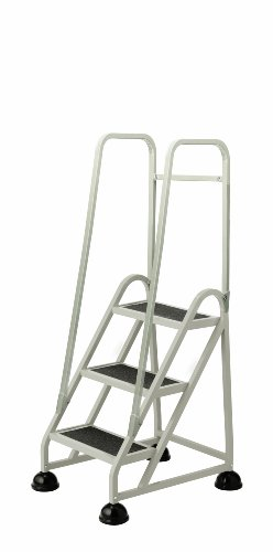 Cramer 1033-19 Stop-Step Ladder 3 Steps with Double Handrail 27-inch High Top Step, Beige