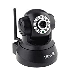 Tenvis JPT3815W Wireless WiFi 2 Way Audio 11 LED Night Vision IP Camera