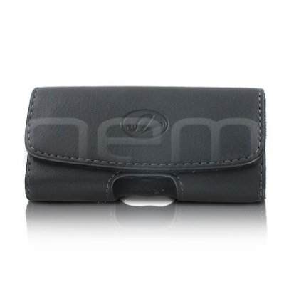 Black Horizontal Stylish Leather Cover Belt Clip Side Case Pouch For Nokia Asha 311