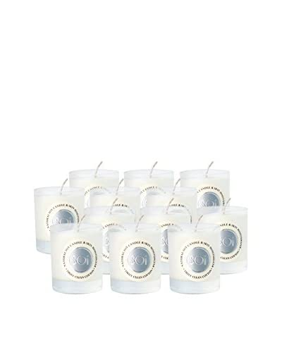 The Soi Co. Set of 12 Assorted 3-Oz. Moisturizing Votives, Truly Clean Cotton
