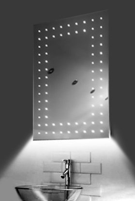 Ambient Ultra-Slim Led Bathroom Mirror With Demister Pad & Sensor K43W