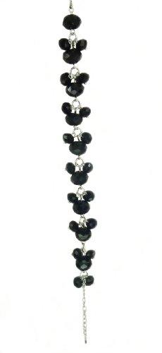 Czech Faceted Glass Beads Bracelet - Black
