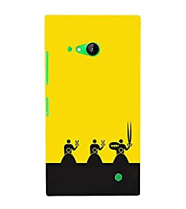 EPICCASE WTF Attitude Mobile Back Case Cover For Nokia Lumia 730 (Designer Case)