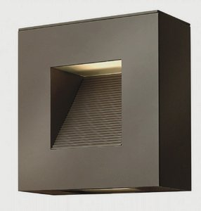 """Hinkley Luna 9"""" Square Bronze Led Outdoor Wall Light"""