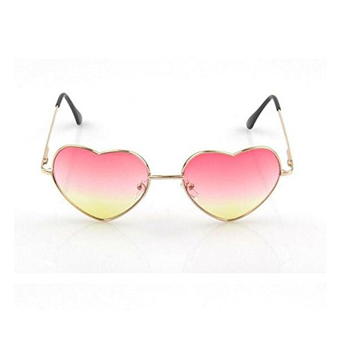 Mr Rabbit Women Thin Metal Heart Frame Mirror Lens Cupid Lovely Heartshape Sunglasses (pink) (Bosch Headset compare prices)