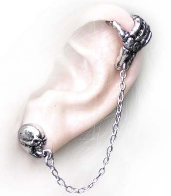 Mortal Remains (Cuff-stud) - Alchemy Gothic Earring