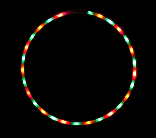 The Hoop Shop® LED Hula Hoop - 28 Color Strobing LED Lights - Multiple Sizes Available - Rainbow Gum (36)