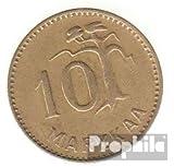 Finlandia km-No.. : 38 1953 muy ya Aluminio-Bronce 1953 10 Markkaa león en distrito (monedas para los coleccionistas)
