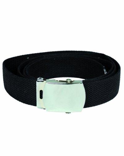 US Army Military Style Web Webbing Belt Cotton Black