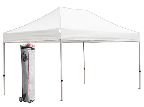 New Eurmax 10X15 Pop Up Commercial Canopy Tent Gazebo With Wheeled Bag,Color|White front-861318