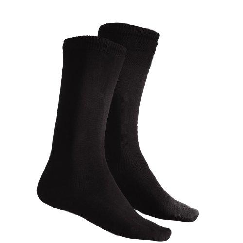 Terramar Adult Thermasilk Mid Calf Sock Liner (X-Small, Black)
