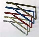 シロクマ 石膏ボード壁用 棚受け金具(2個で1セット) ブルー 6590-2163