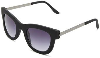 Quay Eyewear Australia Co Ba Square Sunglasses,Black,55 mm