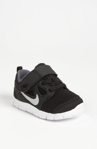 Nike Kids Free 5.0 Toddler (Td) Black Silver Grey 580561-001 6c