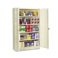 ** Assembled Jumbo Steel Storage Cabinet, 48w x 24d x 78h, Putty