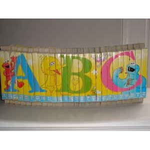 Sesame Street Alphabet ABC A B C Puzzle Board Books - Set of 26 A to Z