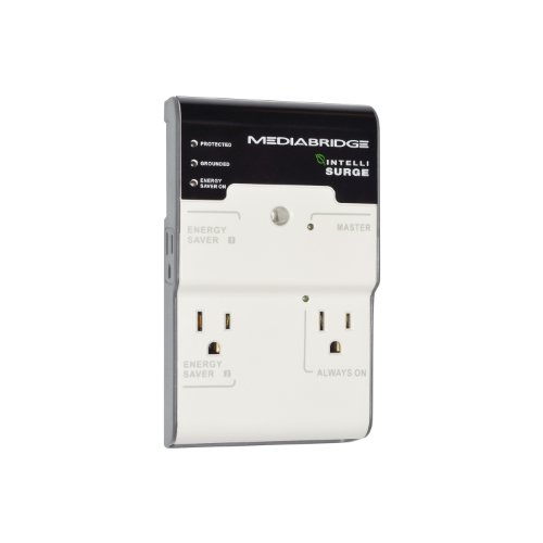 Find Discount Mediabridge 4-Outlet Surge Protector - Energy Saving IntelliSurge - (Part# IS4-121 )