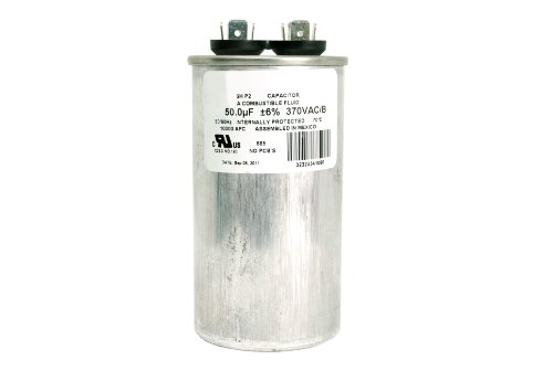 Motor run capacitor rc0015 50 mfd 370 v vac volt 50 uf for Electric motor capacitor replacement