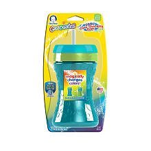Gerber Graduates Fun Grips Color Change Straw Cup 10Oz 1 Pk - Various Colors front-881655