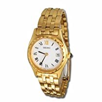 Seiko Ladies Gold Tone Bracelet Watch SWB012P