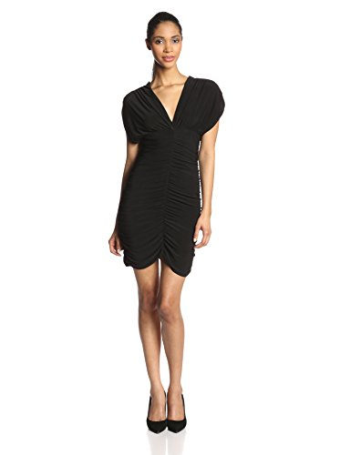 JCQ78 Star Vixen Women's Rouched Cocoon Dress, Black, Medium