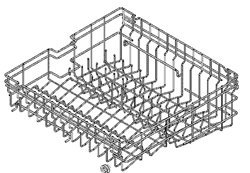 Whirlpool Dishwasher Replacement Rack front-103254
