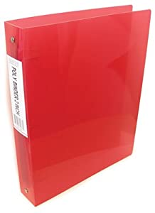 3 Ring Poly Binder - 2 Inch _ Colors Vary