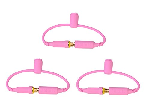 Jökul 3 Pack Generic Lifeproof Headphone Wires / Adapter Replacement - Jacks / Seals / Covers / Screws For Iphone 5/5S/5C Case (Pink)