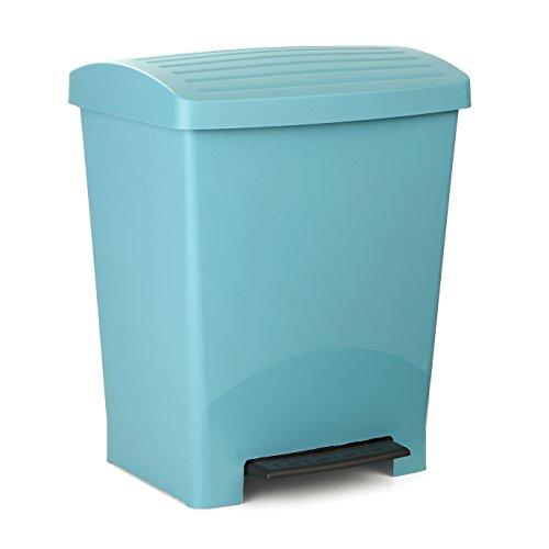 tatay-pedal-basurero-optimist-de-plastico-azul-azul-335-x-29-x-39-cm-25-litros