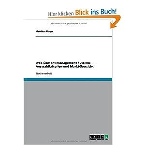 Web Content Management Systeme - Auswahlkriterien und Marktübersicht