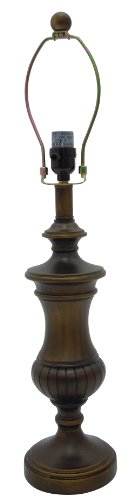 Normande Lighting HR1-2642-BD 60-watt Incandescent Table Lamp Base with Harp and Finial