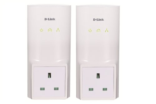 D-Link DHP-P307AV/B 200 MBPS Pass Through PowerLine Homeplug AV Network Starter Kit