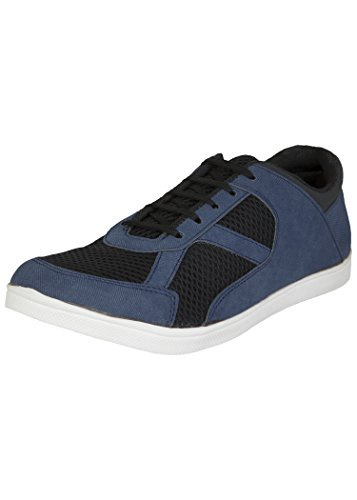 Zovi Men's Synthetic Blue Casual Sneakers With Black Mesh Detailing (10833600801)