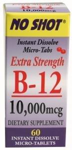 Superior Source No Shot B-12 Cyanocobalamin -- 10000 Mcg - 60 Tablets