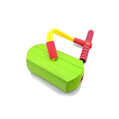 倍贝乐儿童青蛙跳有声弹跳鞋娃娃跳 幼儿园教学玩具运动跳跳鞋 (清新