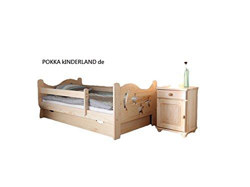 kinderbett jugendbett juniorbett massivholz mit matratze kiefer 140x70cm. Black Bedroom Furniture Sets. Home Design Ideas