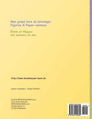 BROCKHAUSEN Livre du bricolage vol. 4 - Mon grand livre du bricolage: Figurine & Piquer-animaux: Étoile et Pâques: Les animaux du zoo: Volume 4