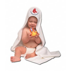 Boston Red Sox Baseball Infant Baby Hooded Bath Towel front-567043