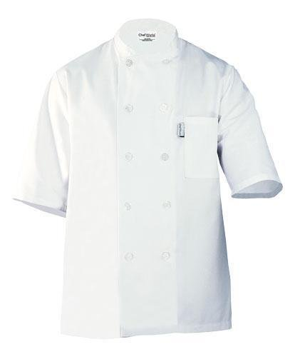 Chef Works PCSS Volnay Short Sleeve Basic Chef Coat, White, 2X-Large