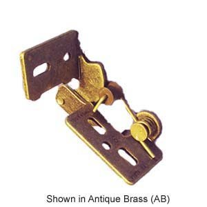 """Youngdale #4 3/8"""" Inset Self Closing Knife Hinge For 3/4"""" Minimum Thickness Door Antique Brass Finish"""