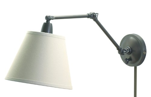 House Of Troy Pl20-Ob Library Lamps Portable 20-Inch Wall Sconce Lamp, Oil Rubbed Bronze