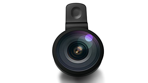 Fish-Eye Wide Angle Lens , Perfectday Clip 140° Fish-Eye Wide Angle Lens for iPhone 6s 6 Plus 5 5C 5S 4S iPad mini iPad Air 4 3 Samsung Galaxy S4 S3 Note Sony Xperia HTC ONE w/ Flat Camera