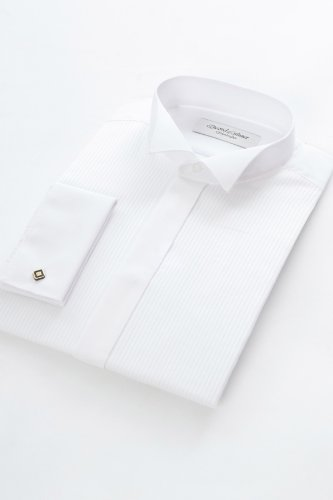 Extra Long Wing collar Dress shirt 18inch Neck, White