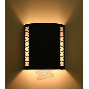 Wall Sconces Theater Lighting : Plain Black Home Theater Wall Sconce with Filmstrip - - Amazon.com
