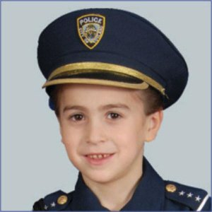 Police Hat Child Costume Accessory