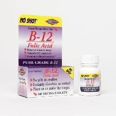 Superior Source No Shot Vitamin B12/Folic Acid Tablets, 1000 Mcg/400 Mcg, 100 Count