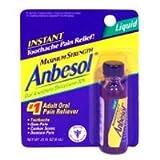 Anbesol Liquid Oral Anesthetic Maximum Strength Gel - 0.31 Oz